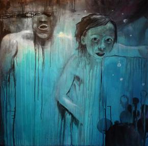 Anne Kammermeier: Wassermann, 2012, Acryl auf Leinwand, 100 x 100 cm, © Anne Kammermeier