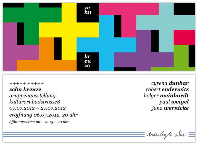"Paul Weigel: Flyer der Ausstellung ""Zehn Kreuze"" in Fürth, © Paul Weigel"