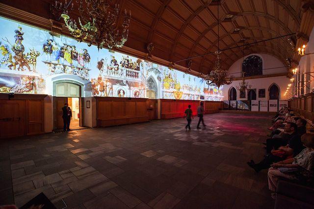 Dürers Triumphzug – eine multimediale Zeitreise im Rathaussaal ©Christian Hertlein