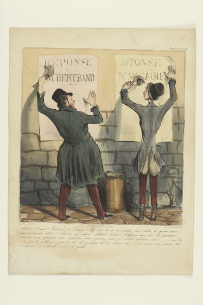 "Honoré Daumier: ""Chaud! Chaud!"", 1837 Ausführung: Aubert & Junca, Paris Kreidelithografie 35,9 x 26,8 cm Germanisches Nationalmuseum, Nürnberg Kat. Nr. 331"
