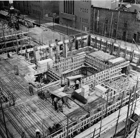 Plärrer-Hochhaus Nürnberg während der Bauphase © Städtische Werke Nürnberg