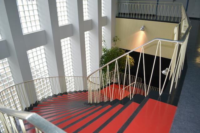 Plärrer-Hochhaus, Treppe im Foyer © Alexander Racz, Kunstnürnberg
