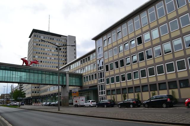 Plärrer-Hochhaus, Mittelteil und Westbau, © Alexander Racz, Kunstnürnberg