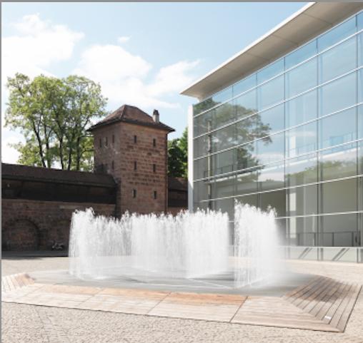 Wasserinstallation vor Museum