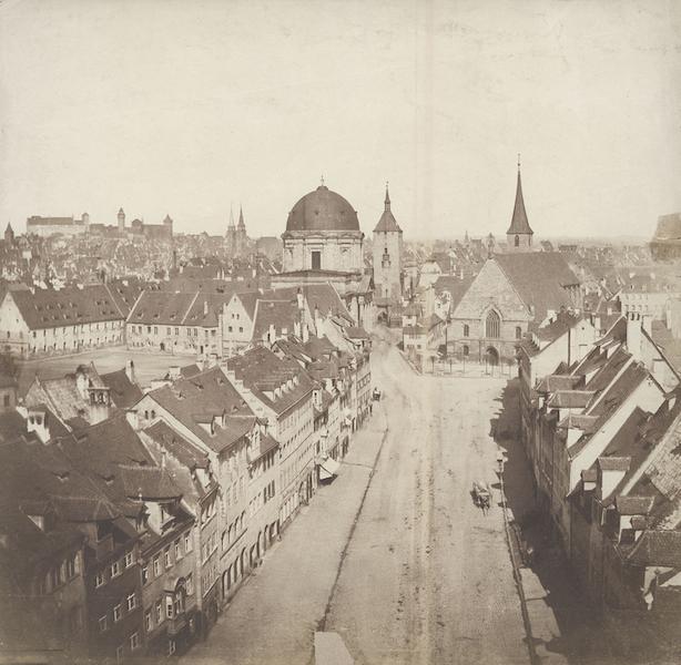 Historische Aufnahme von St. Elisabeth und dem Weißen Turm in Nürnberg © Stadt Nürnberg, Handwerkerhof