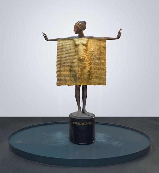 LS Landskron Schneidzik – Galerie und Kunstagentur Überfluss von Malgorzata Chodakowska, Bronze mit Blattgold, ca. 200 cm hoch