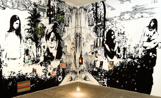 "Oechsner Galerie Markus Putze, Wandmalerei, Ausstellung ""Amplifier"", Galerie Jarmuschek Berlin, 2007, Foto: Ioni Laibarös"