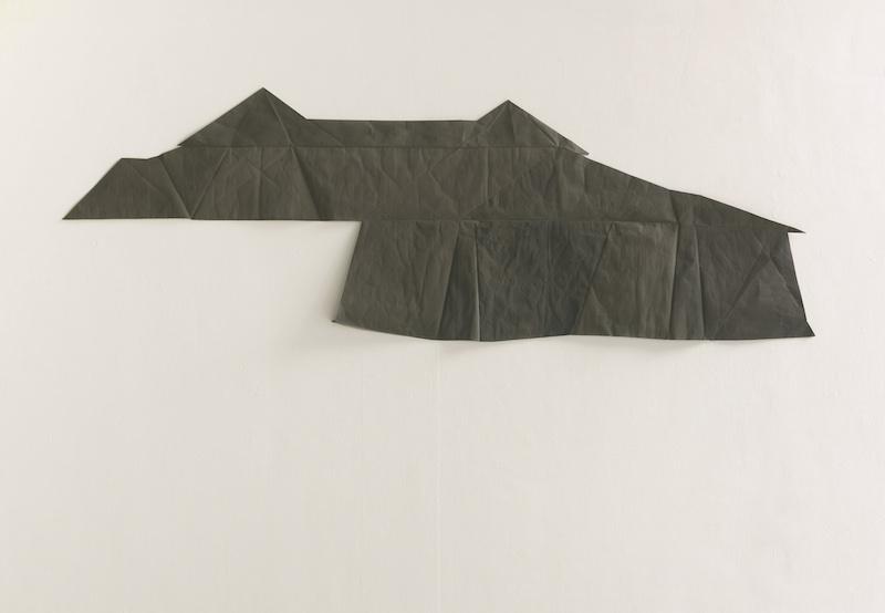 Galerie Sturm Jasmin Schmidt, Roof, 2012, Öl auf Nessel auf Papier, 130 x 400 cm