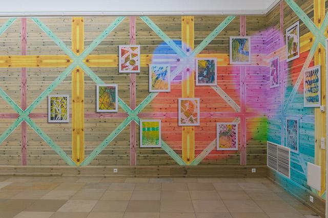 Christine Streuli: entrée, 2014 Tapete auf Wand/wallpaper on wall Courtesy Christine Streuli; Galerie Rupert Pfab, Düsseldorf Foto: Annette Kradisch, Nürnberg