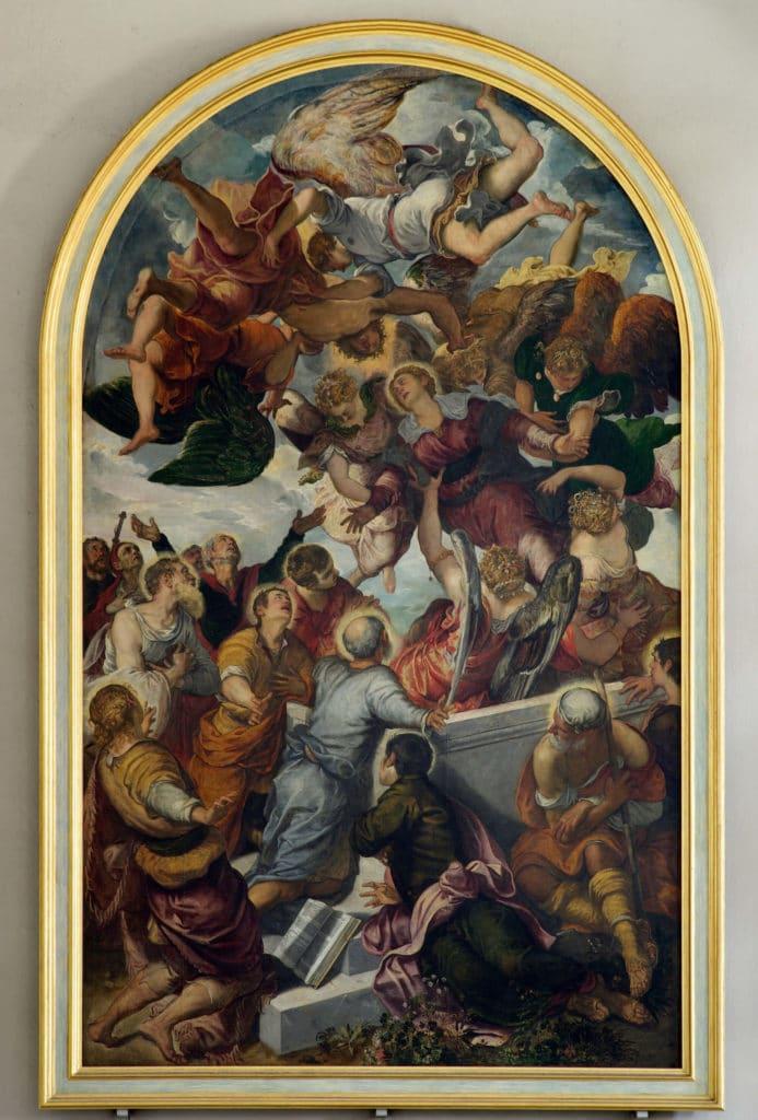 Mariens Himmelfahrt von Jacopo Tintoretto in der Oberen Pfarre, Foto: Wikipedia