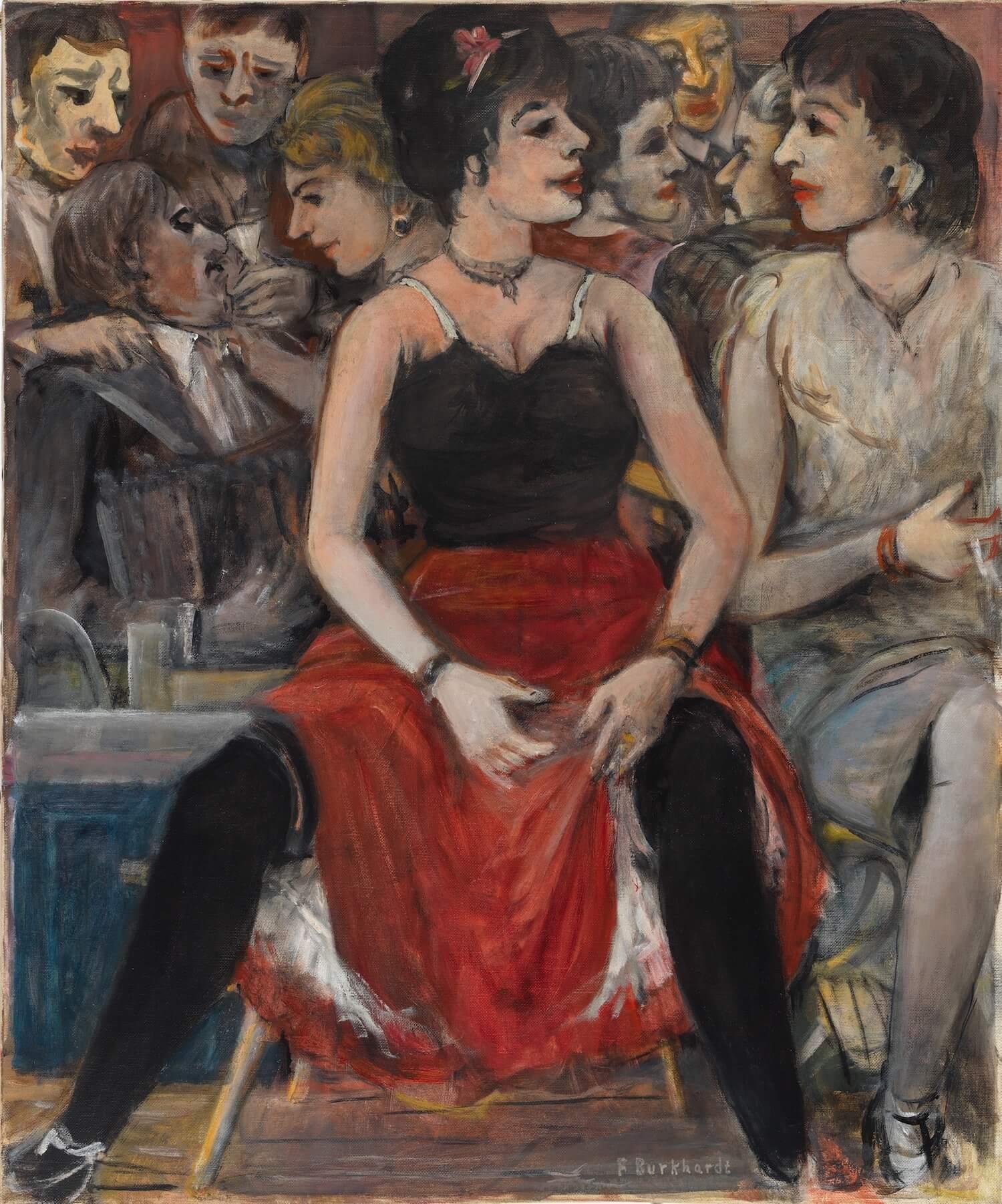 Fritz Burkhardt, Tanzpause, 1935-45, Öl auf Leinwand © Kunstvilla, Foto: Annette Kradisch, Schenkung Stiftung Dr. Enser