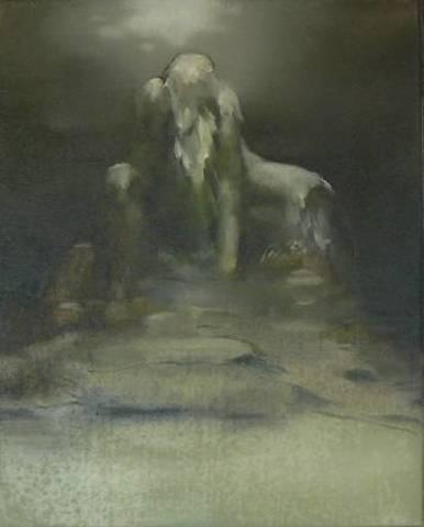 Nazzarena Poli Maramotti, Il Gigante (2013), 50 x 40 cm, Öl auf Leinwand, © KunstKulturQuartier Nürnberg