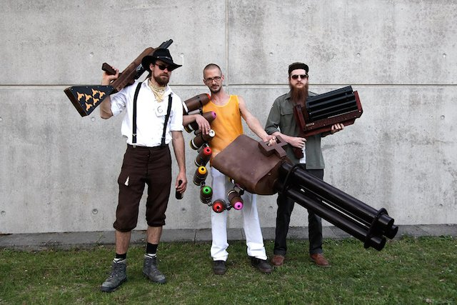 Clemens Söllner, Stefan Schuster und Florian Köbler@ Zombie Circus Suicide
