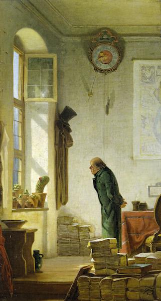 Carl Spitzweg, Der Kaktusliebhaber, um 1850 © Museum Georg Schäfer, Schweinfurt