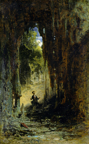 Carl Spitzweg, Der Mineraloge in der Grotte, um 1880 © Museum Georg Schäfer, Schweinfurt