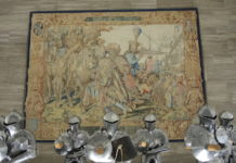Otto von Wittelsbach und die griechische Gesandtschaft, Wirkteppich aus der Werkstatt von Hans van der Biest, 1609-15 © GNM Nürnberg