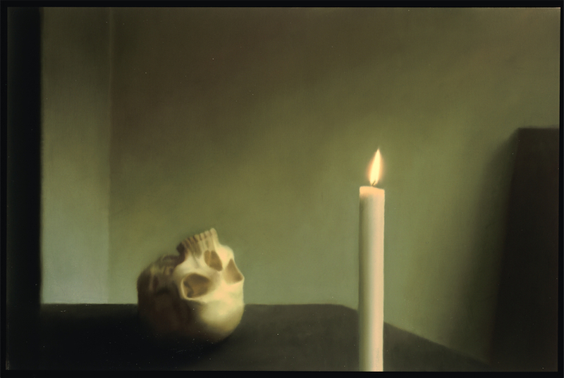 Gerhard Richter, Schädel mit Kerze, 1983 Leihgabe aus Privatsammlung © Gerhard Richter, 2014, Foto: Neues Museum (Annette Kradisch)