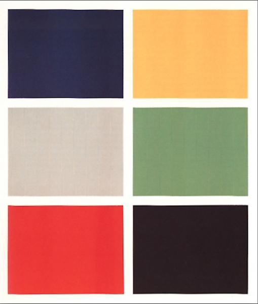 Gerhard Richter, Sechs Farben, 1966 Leihgabe aus Privatsammlung,  © Gerhard Richter, 2014, Foto Neues Museum (Annette Kradisch)