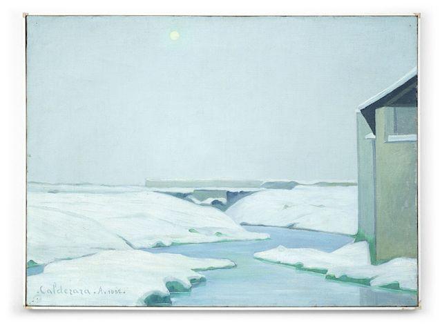 Antonio Calderara Silenzio bianco, 1932 Öl auf Leinwand Galerie Rupert Walser, München © VG Bild-Kunst Bonn 2014 Foto: Gerd Geyer