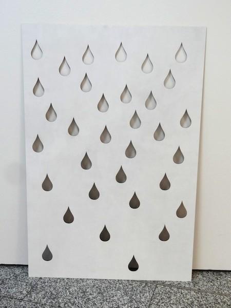 Sarah Erath: rain, 2014, Mdf, Lack, Laserschnitt, 120 x 80 cm, © Sara Erath