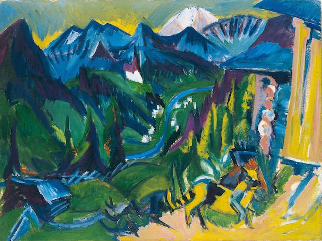Ernst Ludwig Kirchner: Blick ins Tal, 1918/19 Öl auf Leinwand 90 x 120 cm Museum Biberach, Dauerleihgabe aus Privatbesitz