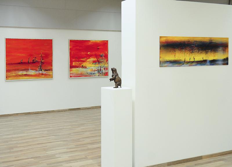 Weihnachtsausstellung 2014 mit Reinhard und Elke Zimmermann in der Stadtgalerie LeonART