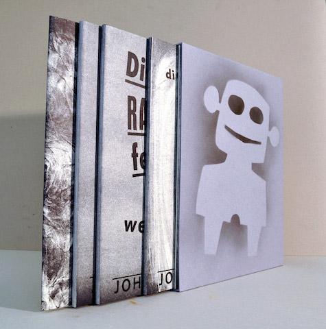 """Johannes Häfner:""""Die RAF fehlt"""", 10-bändiges Kunstbuchkompendium und Grafikmappe, 42 x 34 cm, 2014, 26 Exemplare, © Johannes Häfner"""
