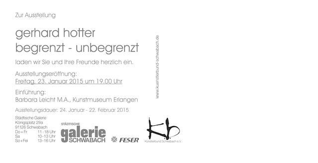 Einladung Gerhard Hotter: Künstlerbund Schwabach