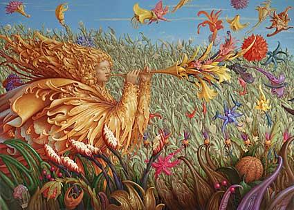 Wolfgang Harms: Der Blütenbläser, © Galerie LandskronSchneizik