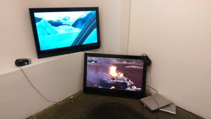 Die Ausstellung Indifferent Pleasures im Raum Heute:_ im ehemaligen Quelle Areal