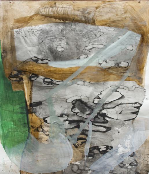 Schlinge, 2014, Mischtechnik auf Papier, 220 x 190 cm © Christiane Bergelt
