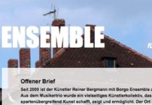 Screenshot Borgo Ensemble, Webseite