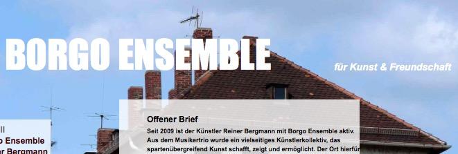Screenshot Borgo Ensemble, Webseite