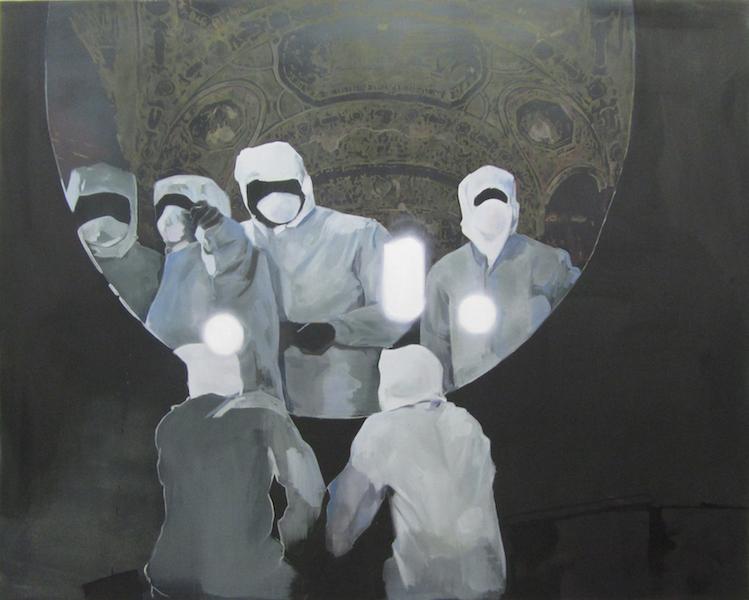 Birke Bonfert: o.T., 2014, Öl auf Leinwand, 160 x 200 cm