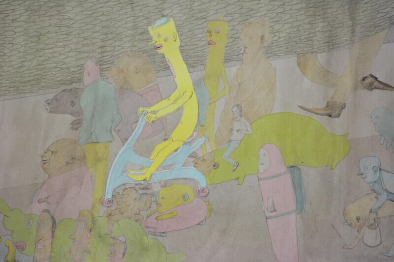 Kirill Schröder, ohne Titel (Detail)3, Grafit und Tusche auf Papier, 80x120cm, 2014
