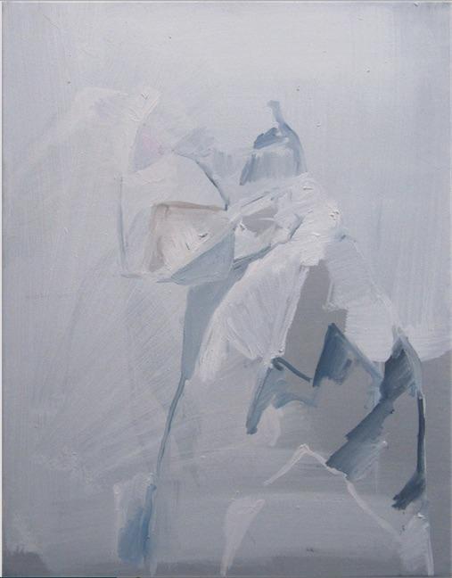 Birke Bonfert: Ritter, 2014, 55 x 45 cm, Öl auf Leinwand
