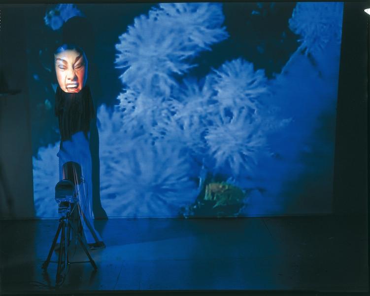 "Tony Oursler, ""Sketchy Blue"", 1996 Foto: Sammlung Goetz, München"