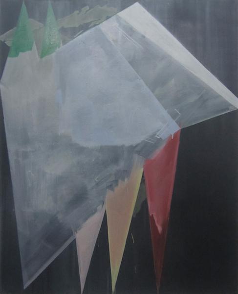 Birke Bonfert: getarnt, 2014, 150 x 120 cm, Öl auf Leinwand