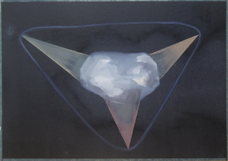 Birke Bonfert: tschuri, 2015, 23,5 x 31, 5 cm, Öl auf Papier