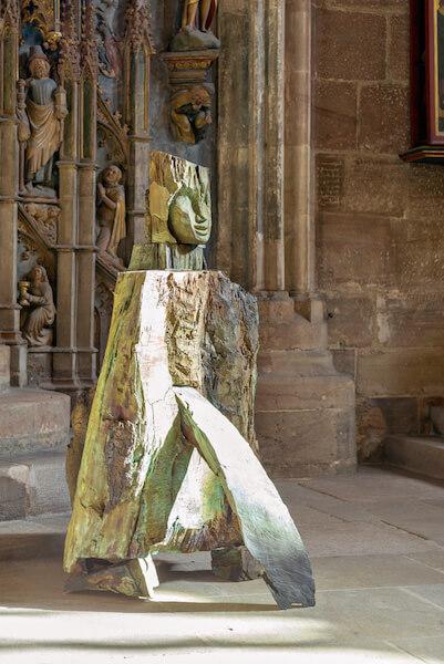Dietrich Klinge: Die Wunde, Bronze, 2014, 6 Exemplare, Höhe 163cm, Foto: Dietrich Klinge und Martin Frischauf