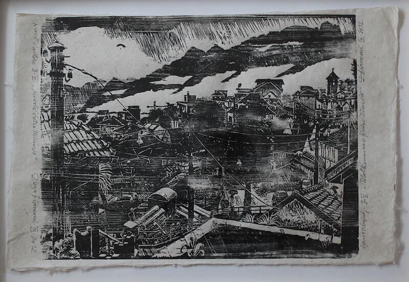 Diego Bianconi, Biennale der Zeichnung 3 in Schwabach, Pressefoto