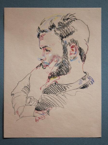 Johannes Grützke, Biennale der Zeichnung 3 in Schwabach, Pressefoto
