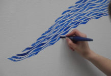 Khrystyna Rymsha-Davidov: Wandzeichnung, Biennale der Zeichnung 3 im Galeriehaus Nord