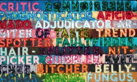Mel Bochner: Critic, 2014, Galerie Hafenrichter