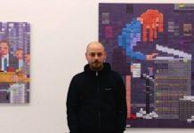 Oleksiy Say at the Bunsen Goetz Galerie, Nürnberg, Foto: Alexander Racz