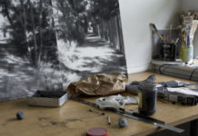 Cherith Lundi, studio view, Ausstellung The same river twice im Galeriehaus Nord, © the artist