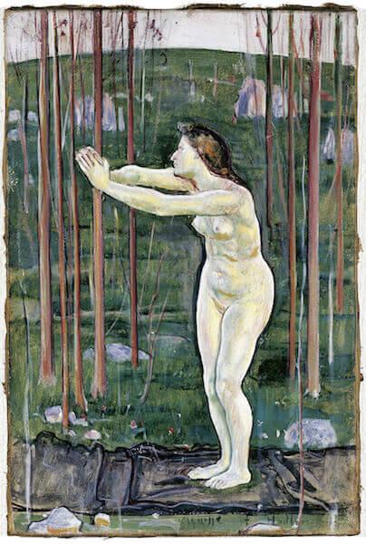 Ferdinand Hodler: Das Aufgehen im All (Communion avec l'infini), 1892, Öl auf Leinwand, 33 x 22 cm, Kunstmuseum Solothurn, Schenkung Oscar Miller Foto: SIK-ISEA Zürich
