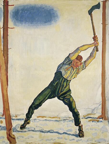 Ferdinand Hodler: Der Holzfäller, 1910, Öl auf Leinwand, 132 x 101 cm, Von der Heydt-Museum Wuppertal Foto: Von der Heydt-Museum Wuppertal