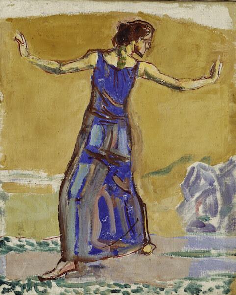 Ferdinand Hodler: Studie zu Fröhliches Weib, 1909, Öl auf Leinwand, 34 x 28 cm, Kunstmuseum Bern, Legat Mme Hector Hodler, Genf Foto: Kunstmuseum Bern