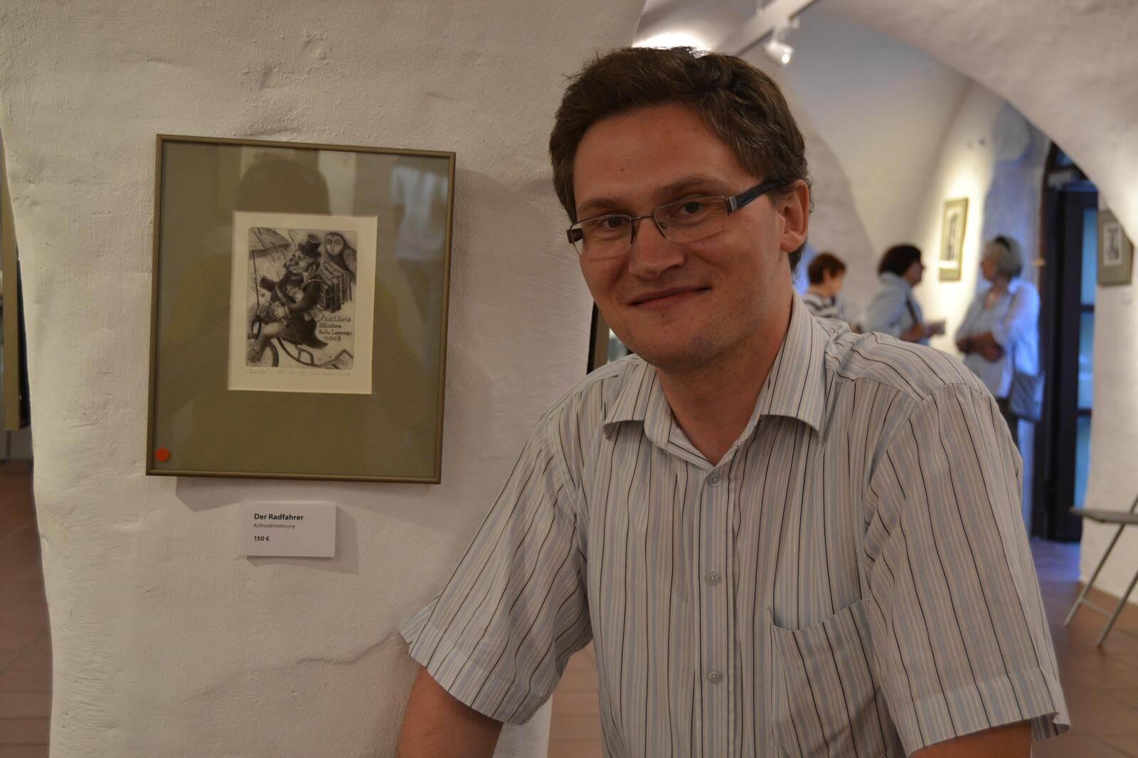Karol Augustynowicz: Ausstellung Städtische Galerie Schwabach, Foto: Reinhard Klix